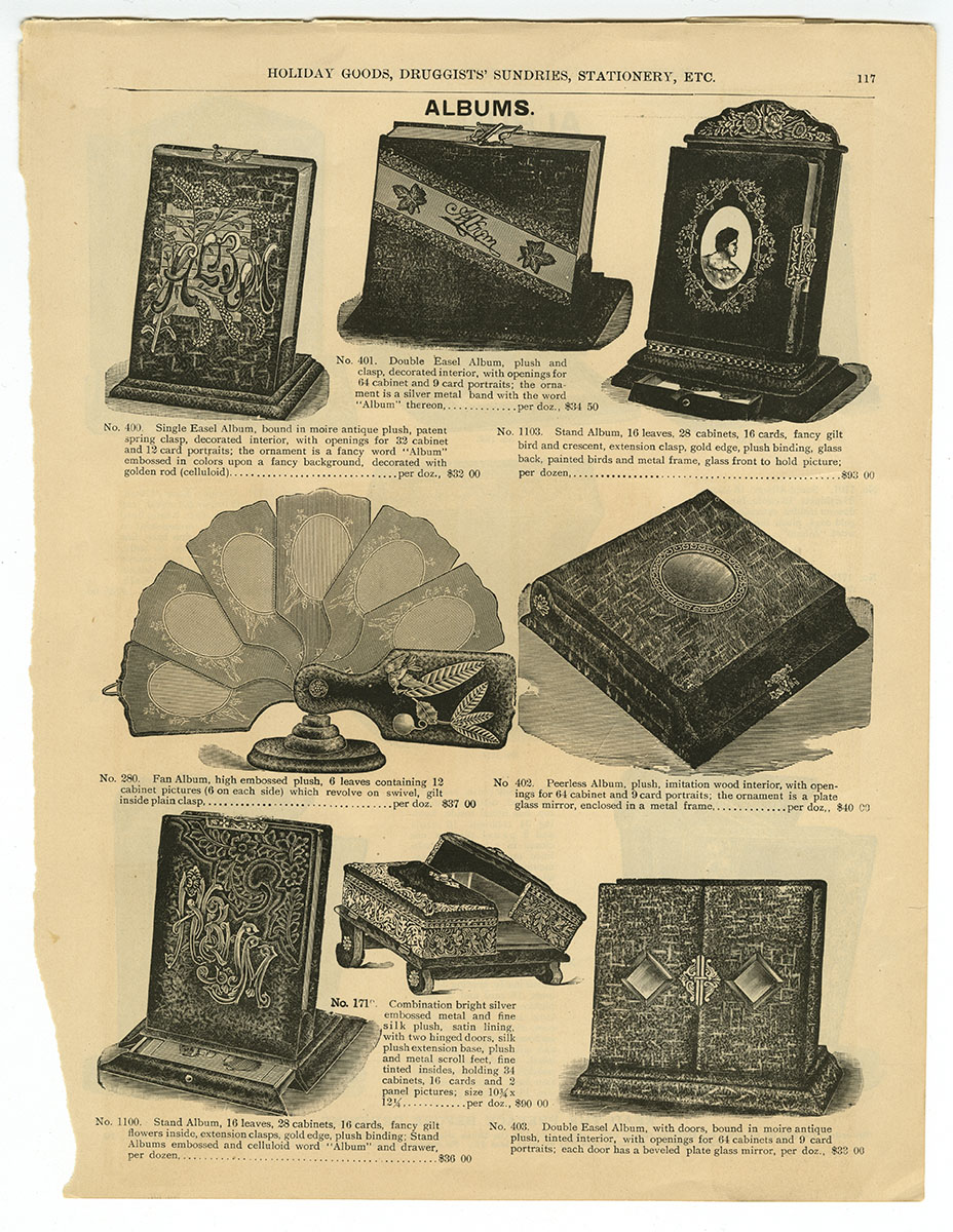 Marshall Field & Co.'s Illustrated Catalog of Holiday Goods, Druggists' Sundries, Stationery, etc. (Chicago, ca. 1891). Michael Zinman Binding Fund.