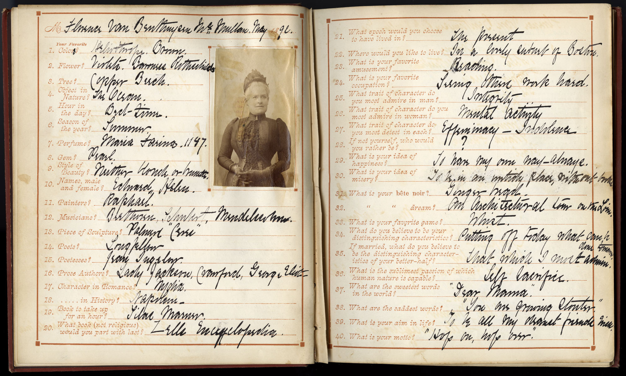 Mental Photographs: An Album for Tastes, Habits, and Convictions (New York, 1890). Gift of Todd and Sharon Pattison.