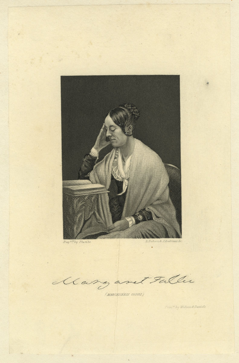 Margaret Fuller, R. Babson and J. Andrews. (Boston, 1855). Engraving.