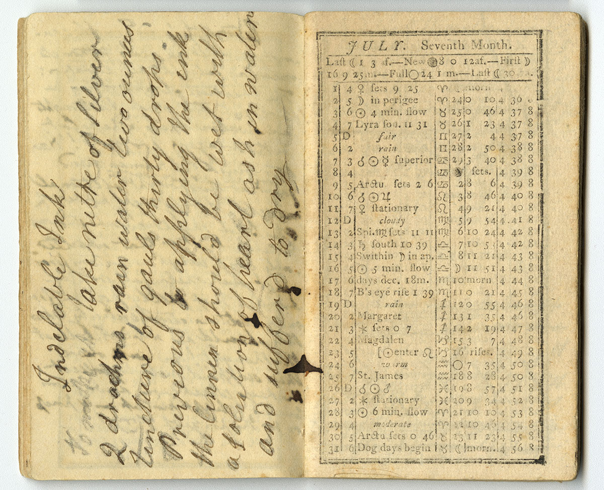 Poor Will's Pocket Almanack, for the Year 1812 (Philadelphia, 1811). Gift of Sally Smith.
