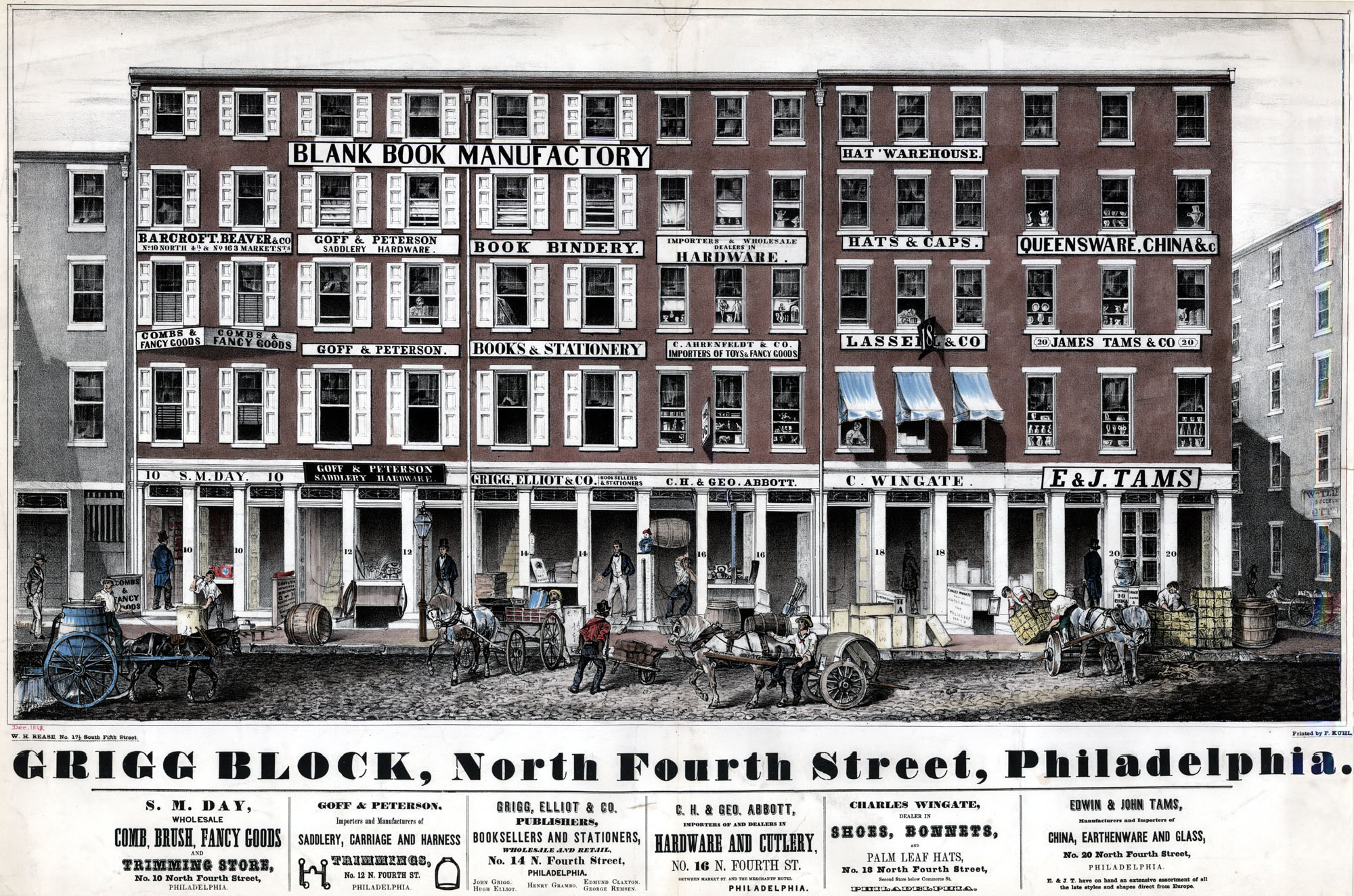 Rease, W. H. Grigg Block, North Fourth Street, Philadelphia. [Philadelphia, 1848].