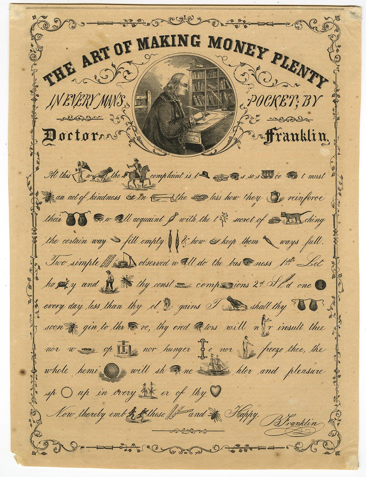 """""""The Art of Making Money Plenty,"""" in Gleason's Pictorial, v. 6 (1854)."""