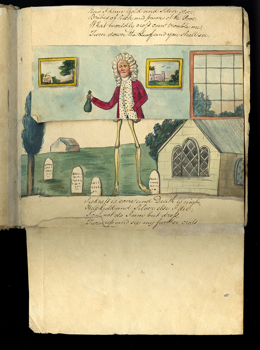 """Benjamin Sands, Metamorphosis, or, A Transformation of Pictures (United States?, 1802). Manuscript copy by """"A.A. Sept. 25th, 1802."""""""