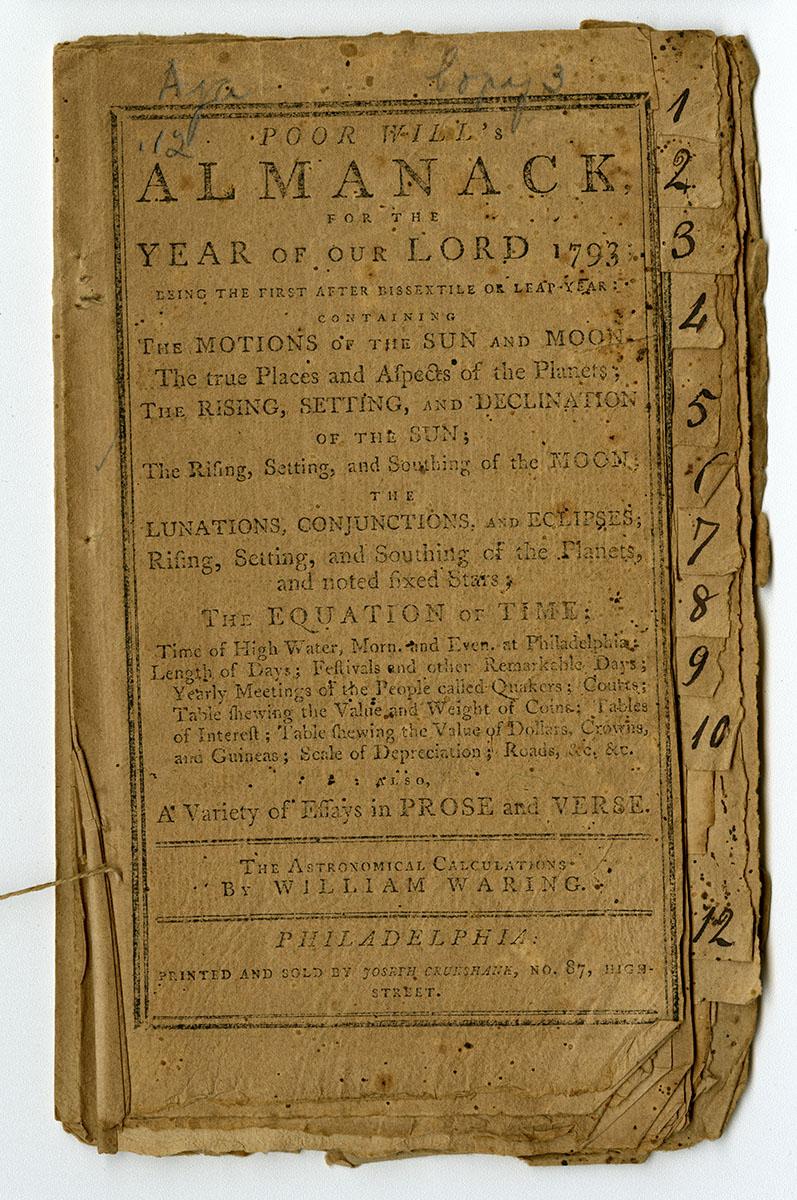 Poor Will's Almanack (Philadelphia, 1793).