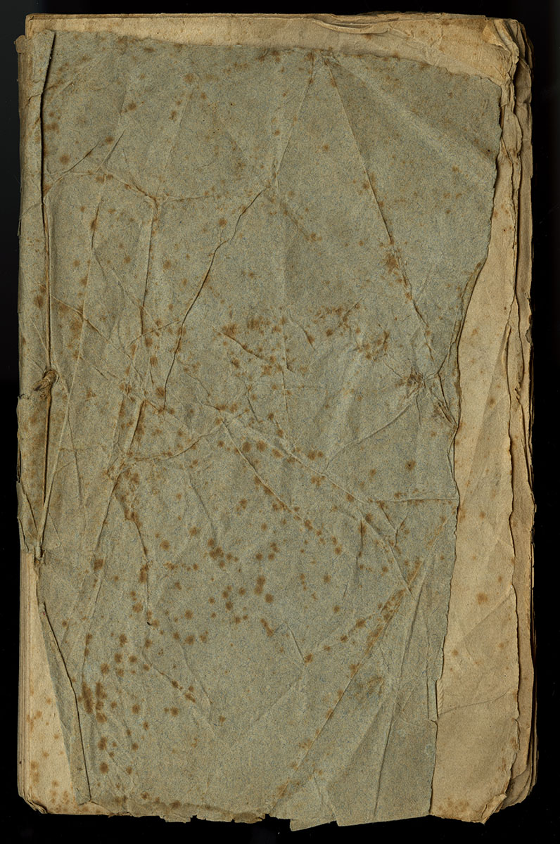 Mathew Carey, Histoire succincte de la fièvre maligne (Philadelphia, 1794). We appreciate the character of this book's wrinkles: they speak of an interesting life! We will leave it as is, protected in a box.