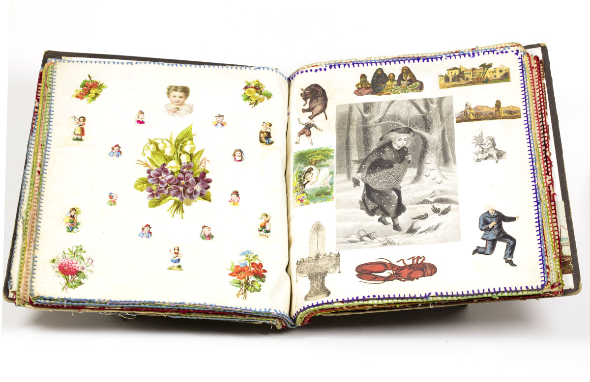 Scrapbook, ca. 1876.