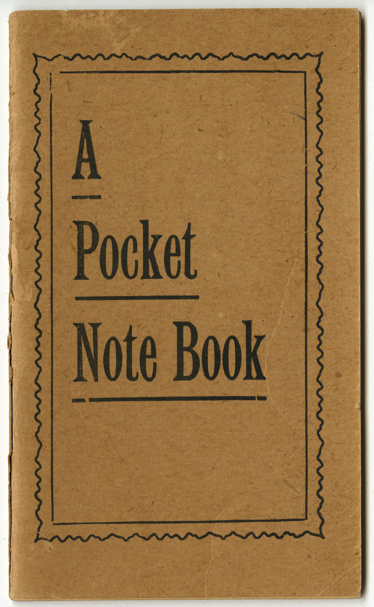 A Pocket Note Book (Philadelphia: National Medical Institute, 1910). Gift of William H. Helfand.