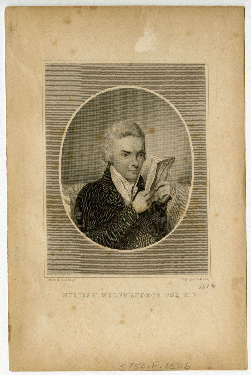 William Wilberforce Esq. Drawn by H. Edridge; eng. by J. Andrews (Boston, 1834). Steel engraving.