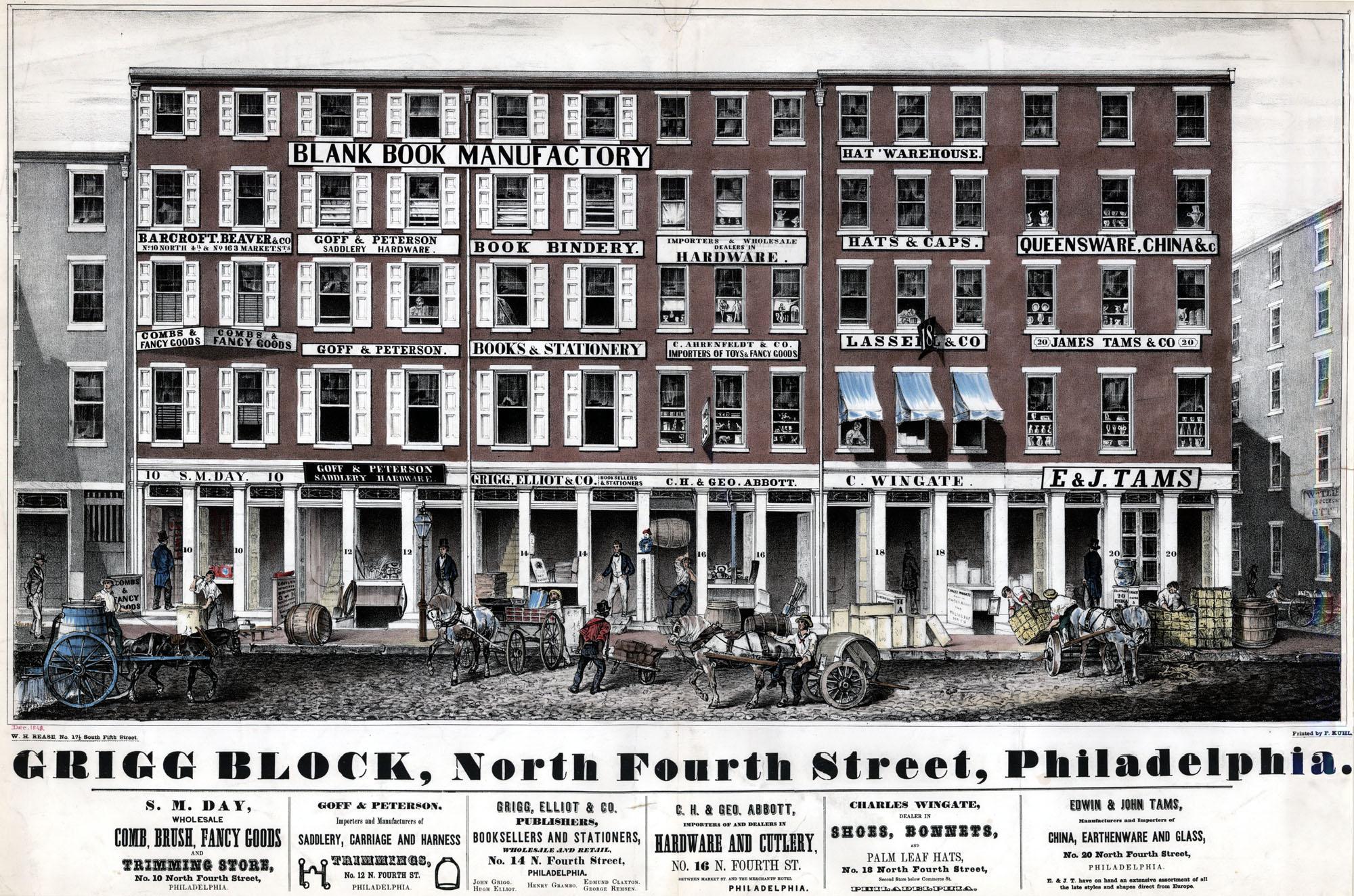 Rease, W. H. Grigg Block, North Fourth Street, Philadelphia. [Philadelphia, 1848].