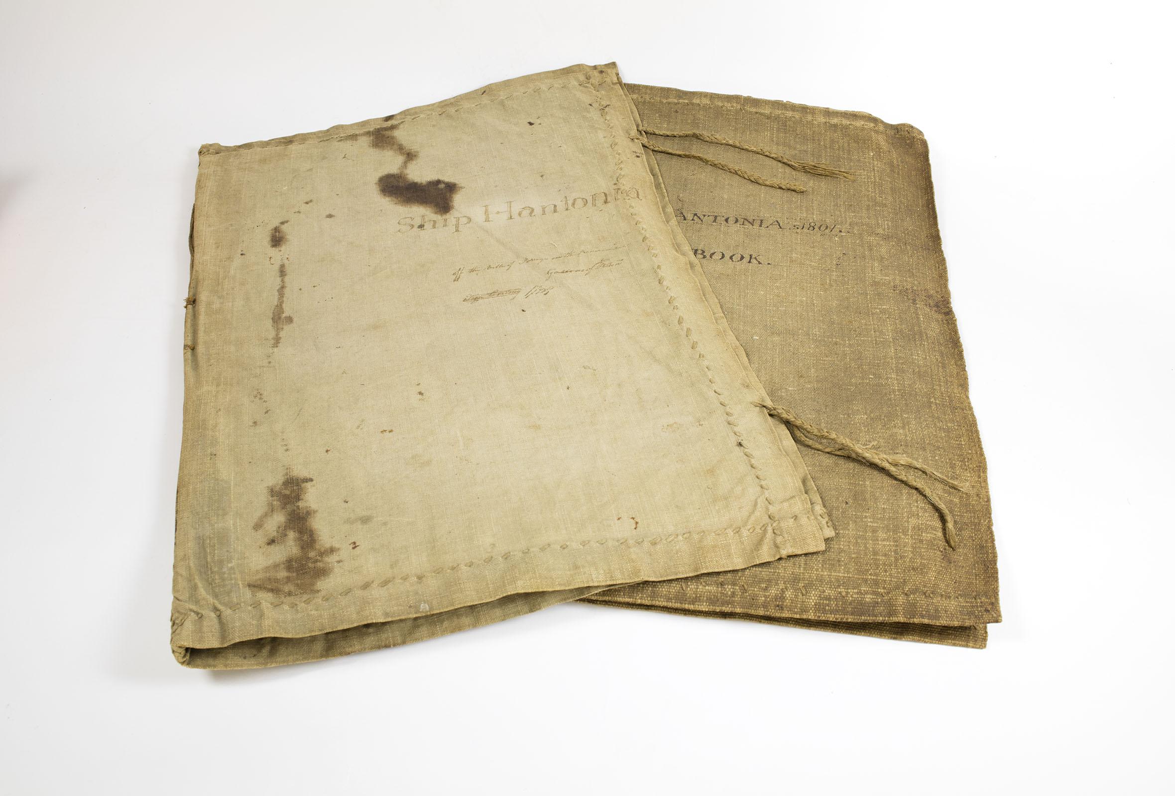 Ships' log for Hantonia II (constructed in 1811). Michael Zinman Binding Collection.