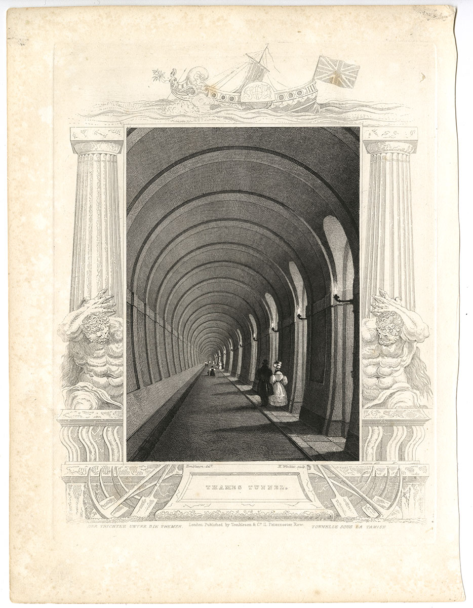 Henry Winkles, engraver after William Tombleson, Thames Tunnel [London, ca. 1830). Michael Zinman Binding Fund.
