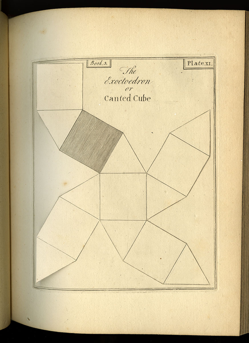 John Lodge Cowley, An Illustration and Mensuration of Solid Geometry in Seven Books (London, 1787).
