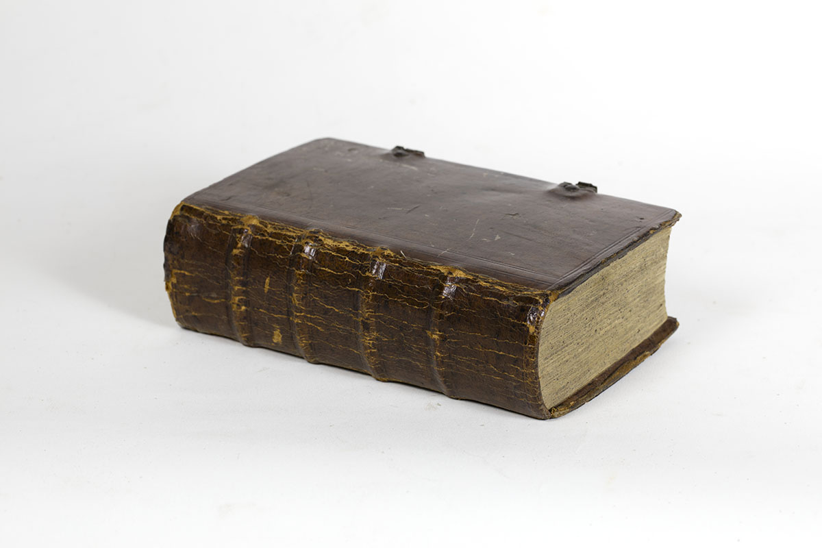 Neu-vermehrt- und vollständiges Gesang-Buch (Germantown, 1763). A Pennsylvania German liturgical binding in a custom-fitted clamshell box.